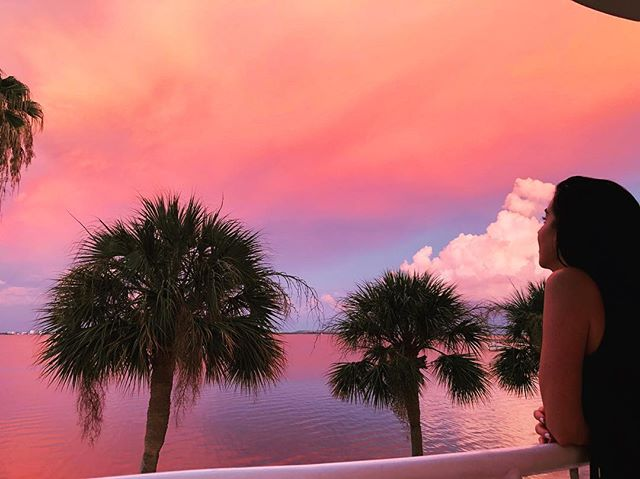Magical moment!  #tampa #sunset #amazingview #floridalife #summer #weatherwatching #daydreaming #eveningvibes #bayshoreblvd #florida