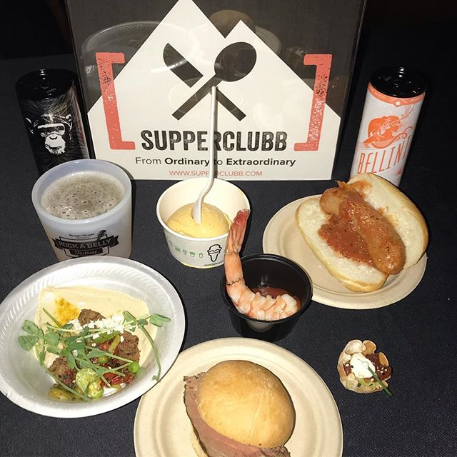 Out here living our best life, for a good cause with @foodforthoughtdenver ⠀⠀⠀⠀⠀⠀⠀⠀⠀ #supperclubb #denver #denverfood #denverrestaurants #denverfoodie #food #foodforthoughtdenver #RockABelly2018
