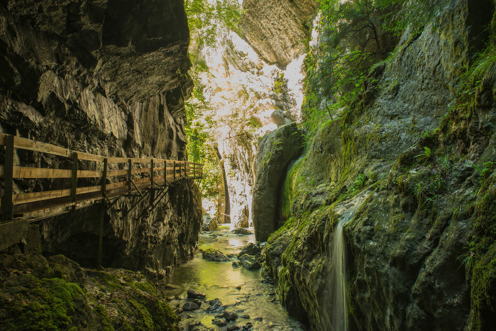 Rappenloch Schlucht - Dornbirn, ÖsterreichDie Naturdenkmäler