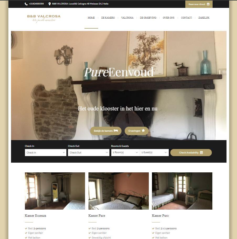 Recent opgeleverde site - B&B Valcrosa in Melazzo (IT)Meer opgeleverd werk bekijken? Klik dan hier