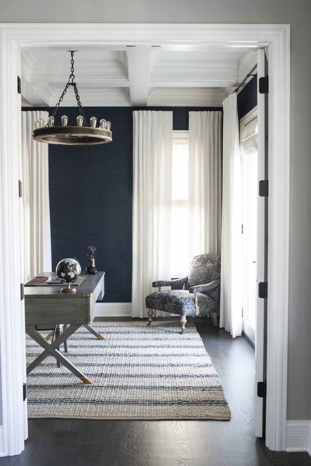 A  patterned rug  makes a statement as seen in our  #puppyloveclient  study.