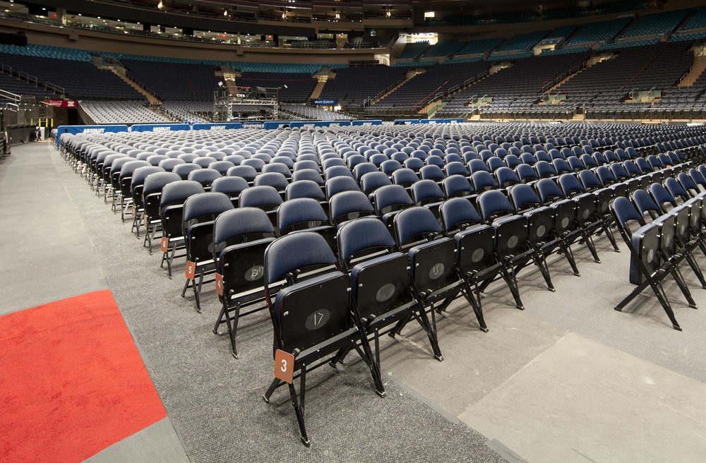 "4000 Series  Perfect for larger events, the uplift seats save space and with the ""K"" brace these chairs can withstand years of use."