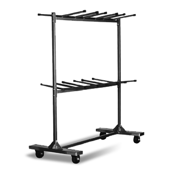 Hanging Cart (HT/S)  Available in seven sizes to accommodate most facilities and Clarin chair models, our hanging storage carts are great for lower chair quantities.