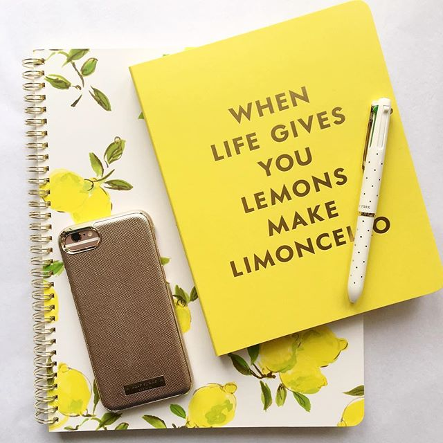 Work + back to school ready 🍋✨ #katespade #limoncello #phonecases #stationary