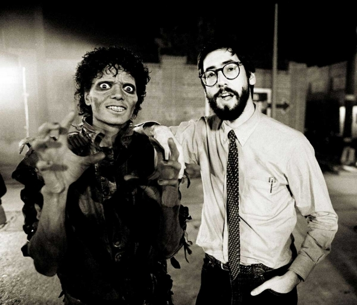 Michael Jackson & John Landis, on the set of Thriller.