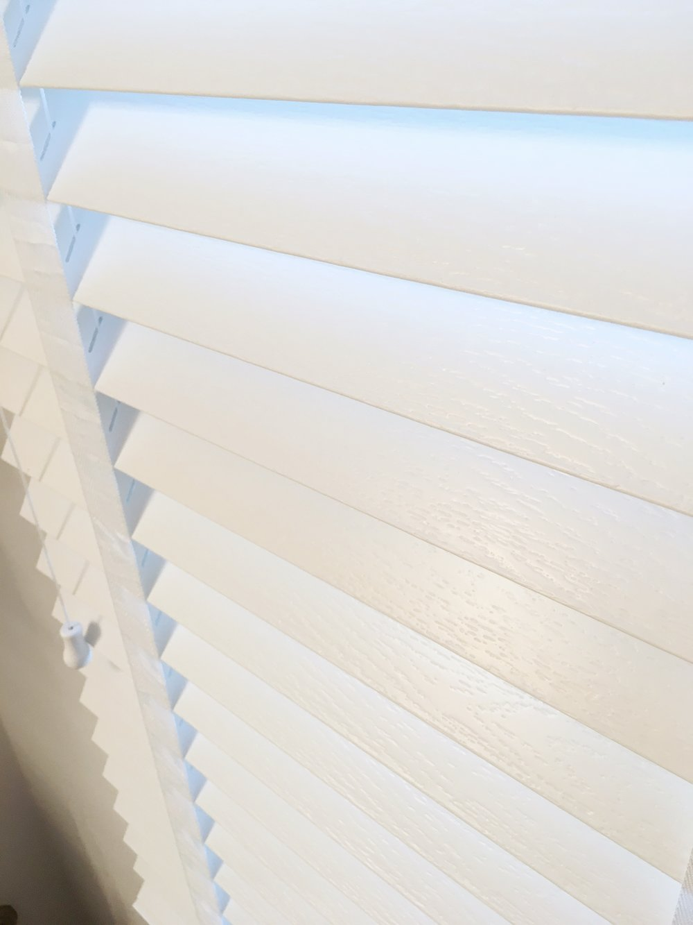 White custom window blinds by 3rdGenBlinds