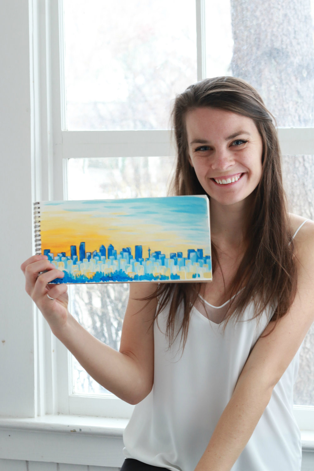 Here is one of my favourite paintings from my most recent photo shoot! I love this painting of the Calgary skyline.