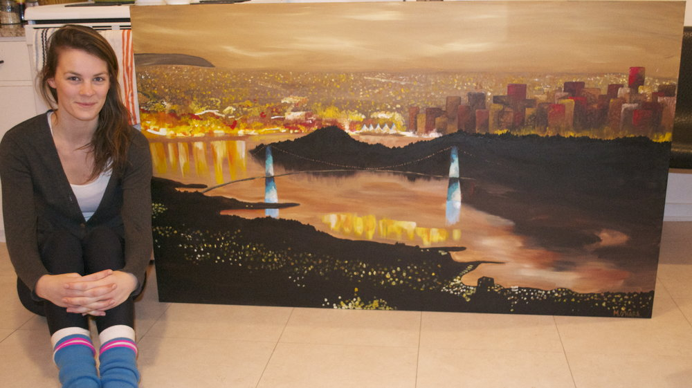 Here I am back in 2011 with my first ever city painting!