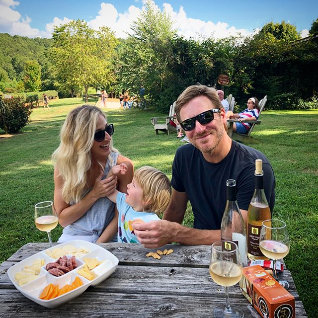Wine, trucks, and stealing kisses! Another great weekend in the North GA mountains