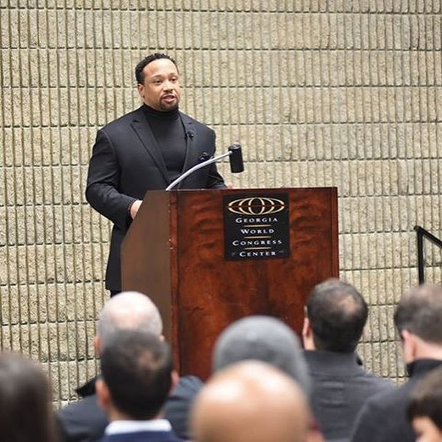What an experience having the Super Bowl in our city! Our client got up close and personal with Jamal Anderson as he shared his knowledge on the economic impact the Super Bowl has on its hosting city, life post Super Bowl for pro players, and the game inside the game. Great insight and a memorable event for all.