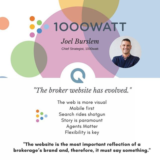 When we had the chance to geek out with 1000watt Chief Strategist, Joel Burslem over brand, technology -- and specifically, brokerage websites and design, he articulated what we live every day at Sequel. Be different, have a story, and do MORE than show listings - and watch your market share grow.  Thanks, Joel. .... #realestatebranding #realestatebrand #realestatewebsites #brokerwebsite #brokertechnology #realestatetechnology #websitelaunch #websiteplans #techroadmap #realestatedigitalmarketing