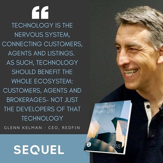 In his Foreword in the Swanepoel Tends Report, Redfin CEO Glenn Kelman speaks about reimagining change in our industry - and this quote speaks to everything we believe in; that broker technology should be built for REAL ESTATE, not tech vendors - and should be for the whole of the ecosystem in your organization.  We have reimagined, and built something that does that. Reach out to learn more. #realestate #realestatetechnology #realestatelife #brokers #brokerage #realestatebroker #brokertechnology