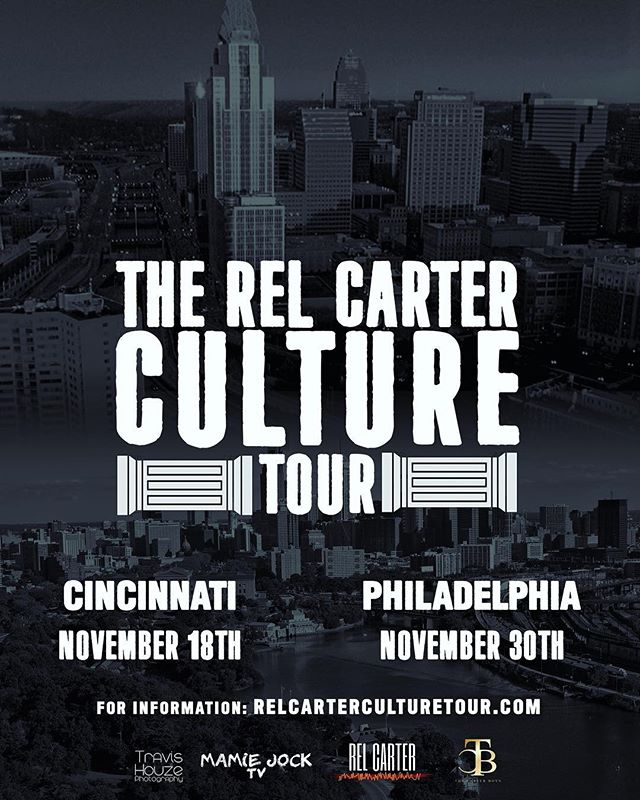 """""""The Rel Carter Culture Tour is a platform... What you do with it creates the opportunity."""" See you soon Cincinnati 🛫 Submit to register now via our official website. Link in bio #relcarterculturetour #relcarter #carterboys #dusselifestyle"""