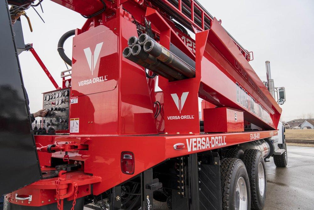 Versa-drill V-125X rear view