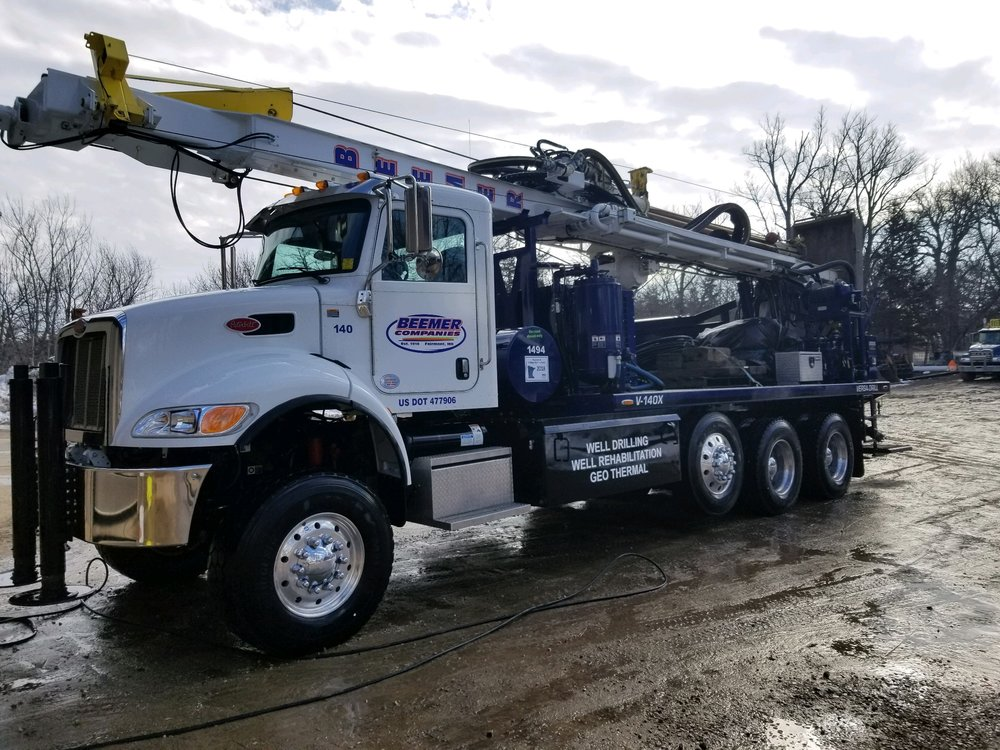 Beemer Companies' Versa-Drill V-140, mounted on 2016 Peterbilt