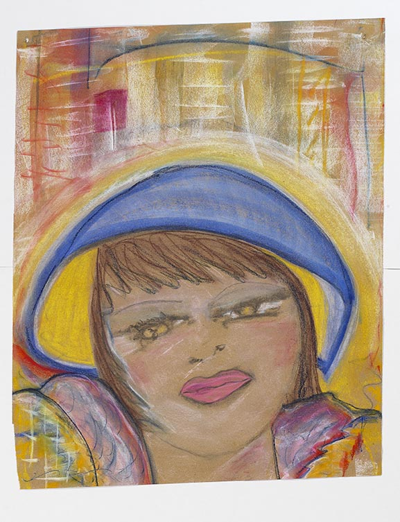 "Iris Klein © MAMAN Chalk Pastel on Archived Brown Paper 24""x19.5"" 2017    There are 34 pieces of These Women.  More forthcoming,"