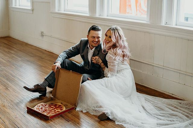 Happy Valentine's Day to all you lovers out there❤️ Randall and I decided to finally take a day off together and what couldn't be better than to hear the rain, lay in bed all day and watch a ton of movies and grub on some pizza // also what isn't to love about these two eating a heart shaped pizza!? Absolutely adorbs🥰😍❤️ . . . Photo: @deltorophoto  Stylist: @sarahmay_designs  Workshop: @weddinglifesocial  Venue: @electricloft  Lead Photographer: @deltorophoto  BTS: @nelly_cabanillas  Rentals: @planksandpatina  Florals: @idewflowers  Calligraphy: @bareinkco  Signage: @dearheartsigns  Dress: @theproposal.bridal  Hair: @matrimonymanes  Makeup: @keybeauty  Cake: @sugarbee_cafe  Cookies: @sweet.cousins.cookies  Balloons: @______thepopshop  Dj: @radioklash  Photobooth: @desertlunaphotobooths  Clothing: @shopluxclothing  Babes: @themamabirdd @dear_summa . . . . #bridetobe2019 #coupleshoot #bridalshoot #brideandgroom #shesaidyes #allyouneedislove #weddingstylist #weddingplanner #weddingplannerlife  #pnwadventures #pnwweddings #weddingblog #weddinginspo #elopementplanner #sarahmaydesigns #engagedaf #engagedlife #engaged #brideoftheday #weddingdayready #stylemepretty #destinationplanner #elopementstylist #stylingworkshop #weddinglifesocial #dirtybootsandmessyhair #100layercake #greenweddingshoes #junebugweddings