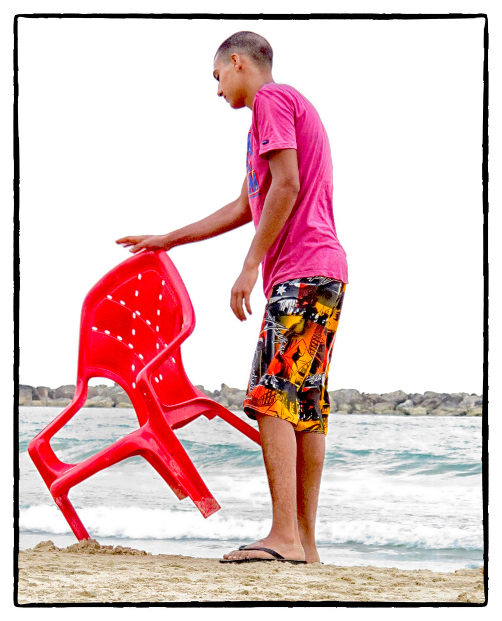 Red Chair, Pink Shirt