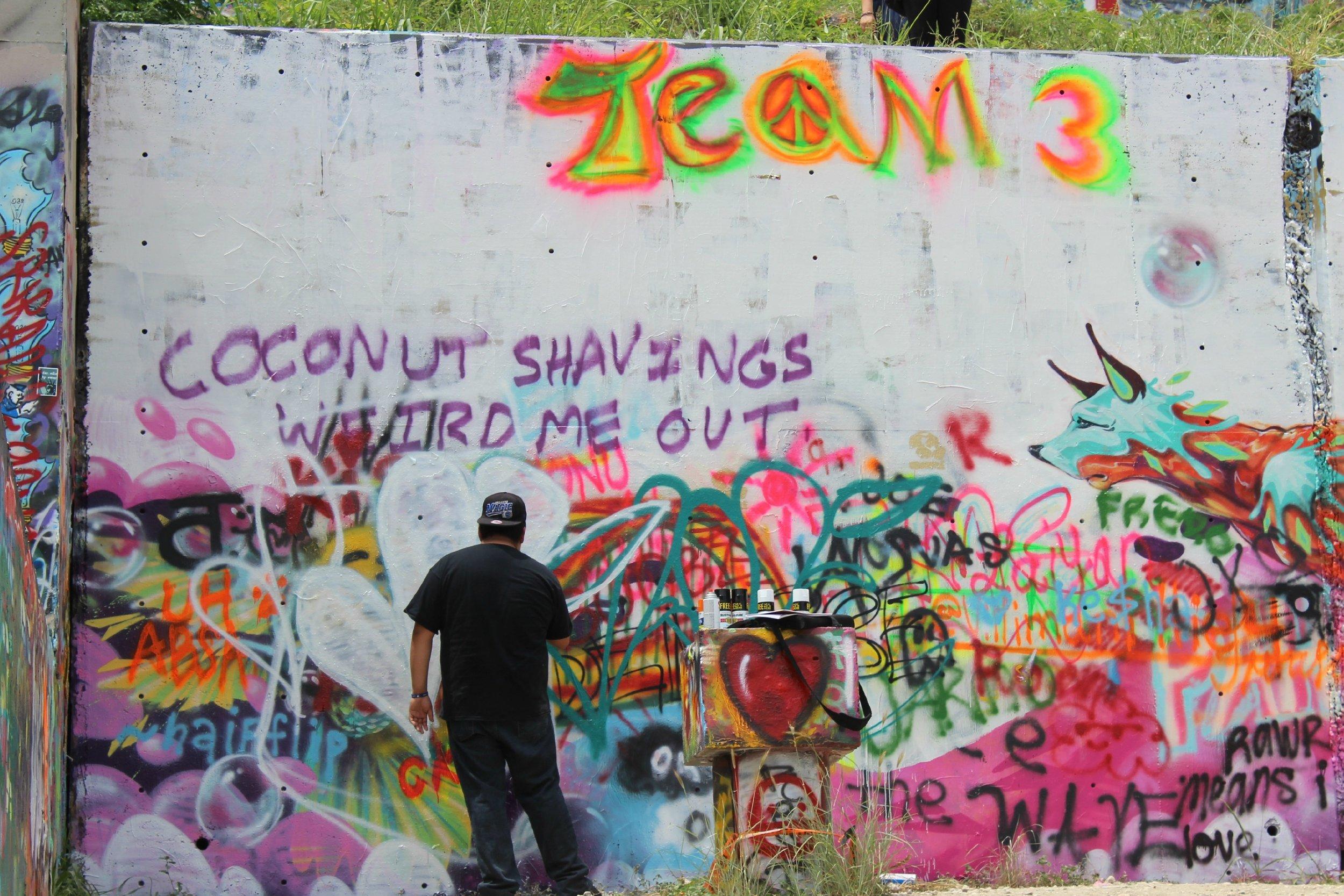 artist at graffiti hills