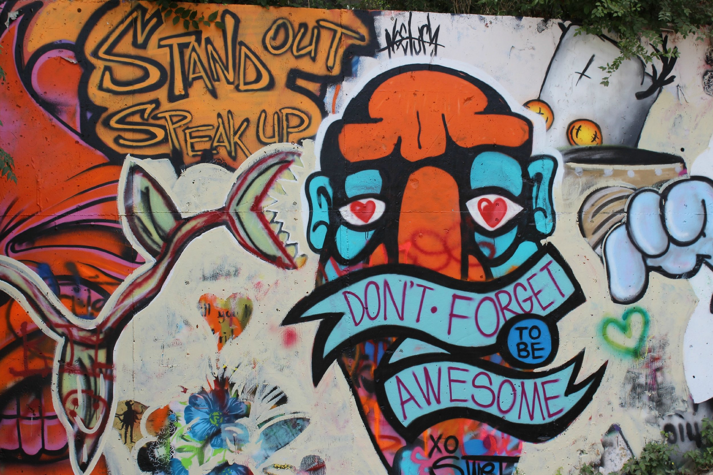 don't forget to be awesome graffiti hills