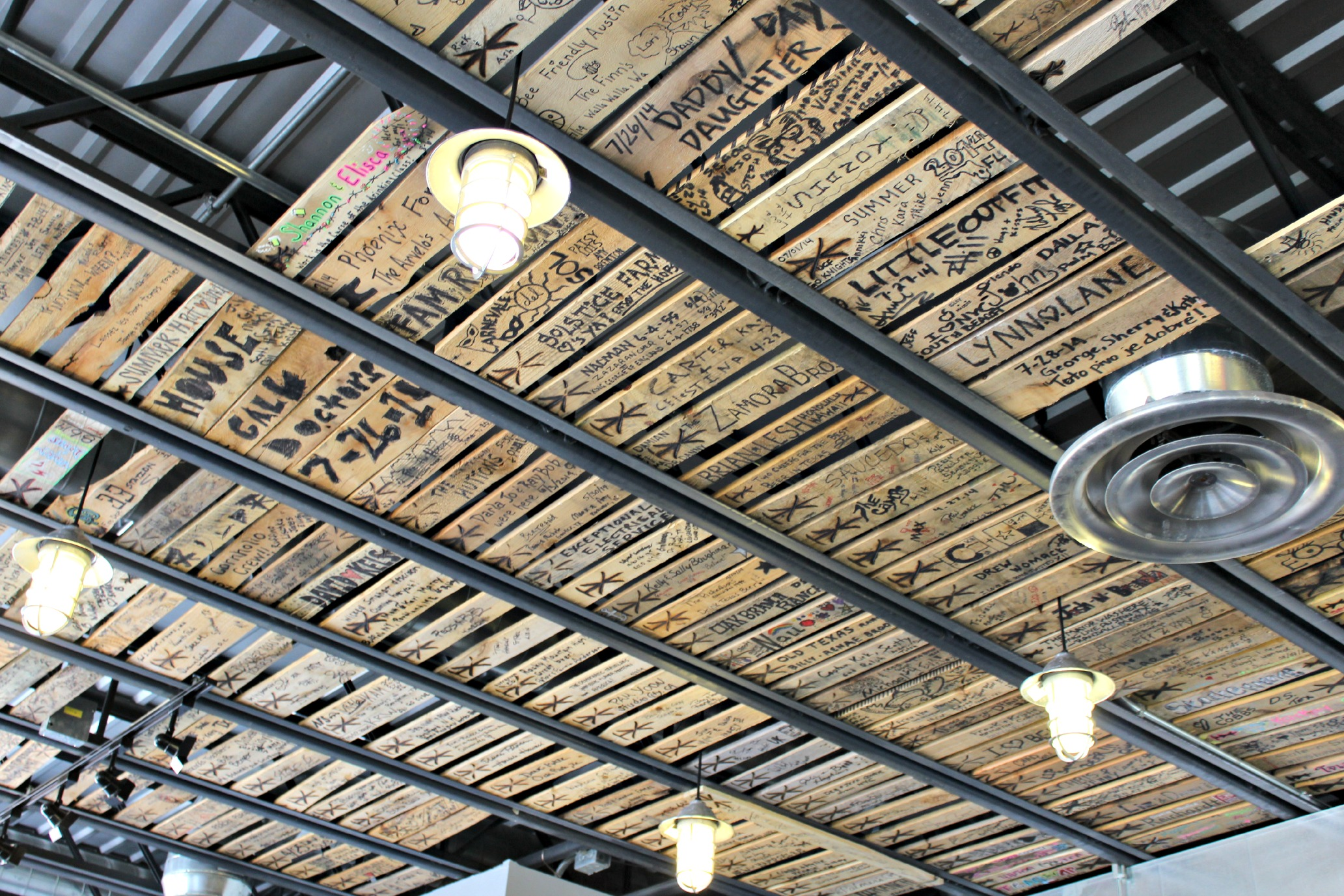 twisted x brewery cieling