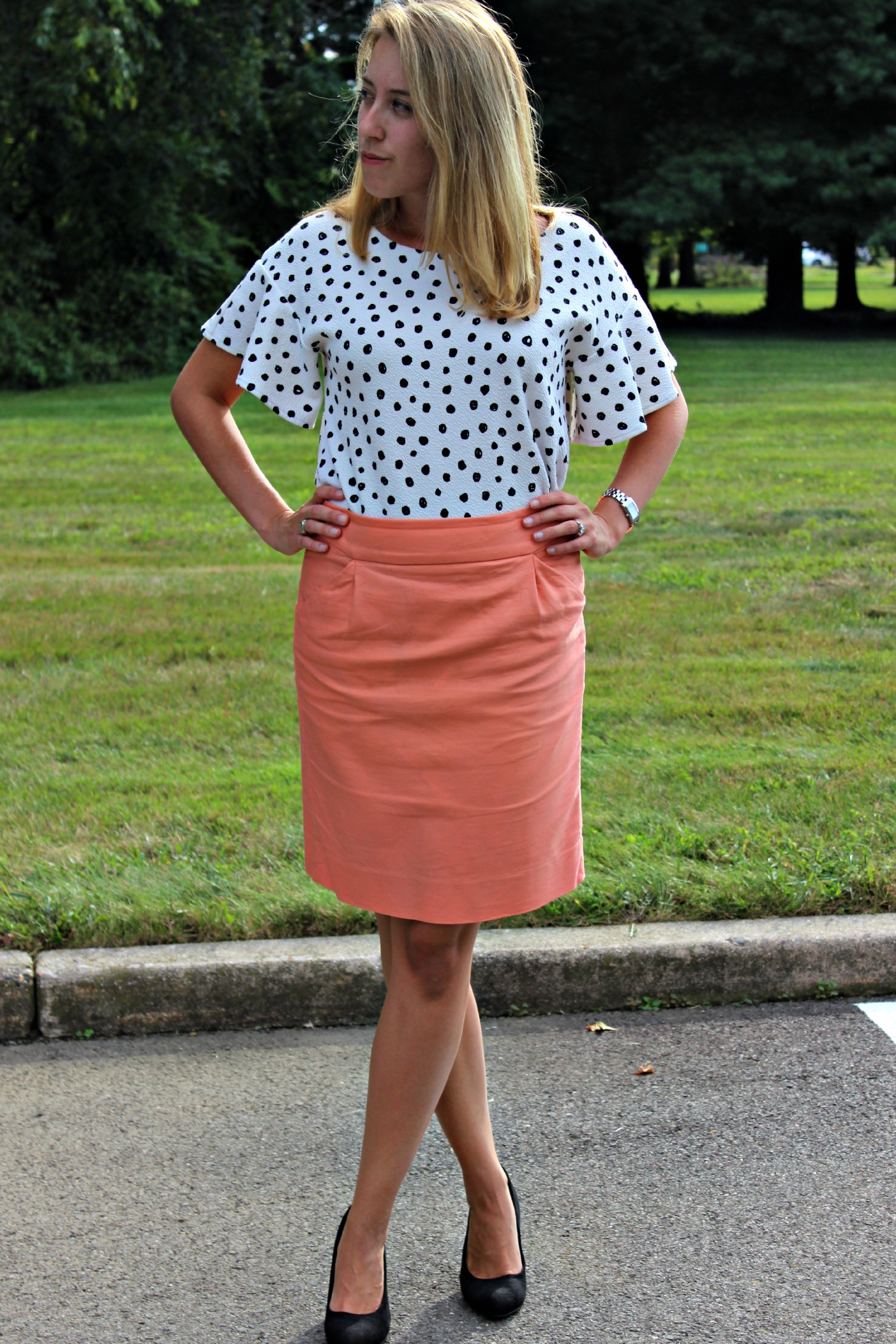 the polka-dotted professional