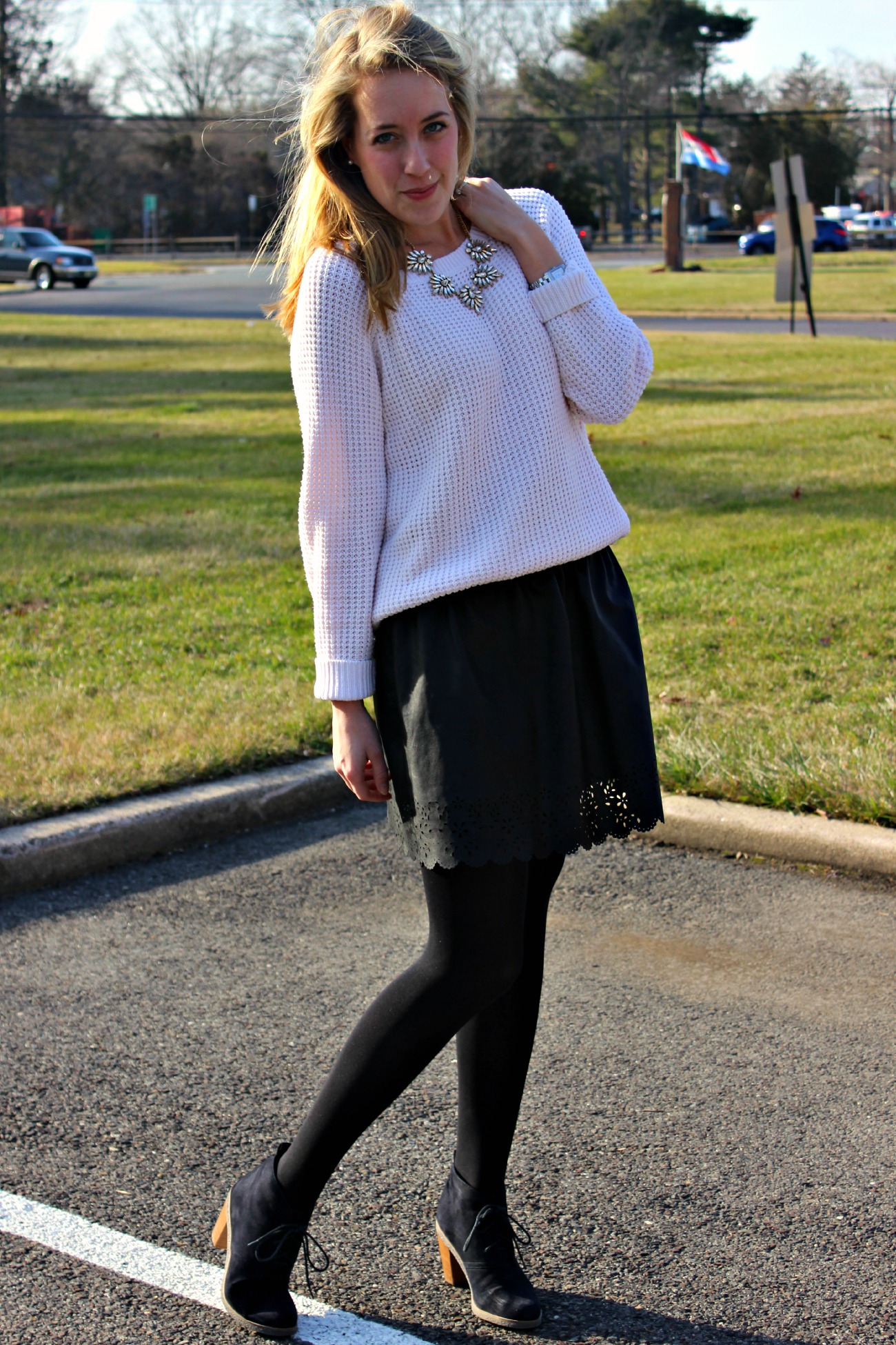 Wearing: Leather Lace
