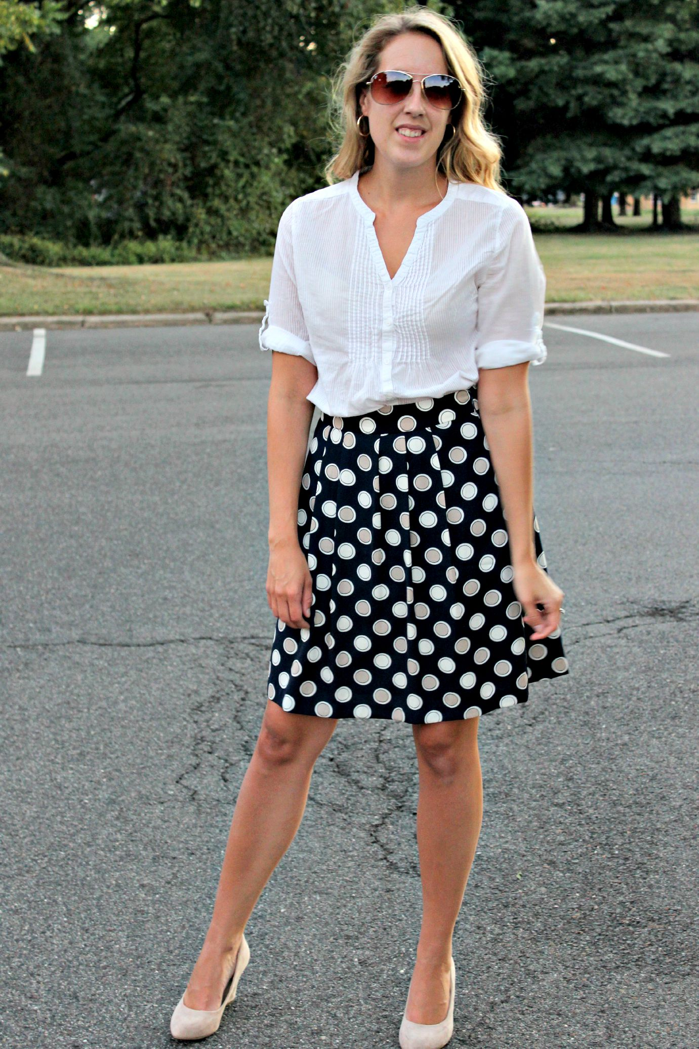 Wearing: The White Blouse