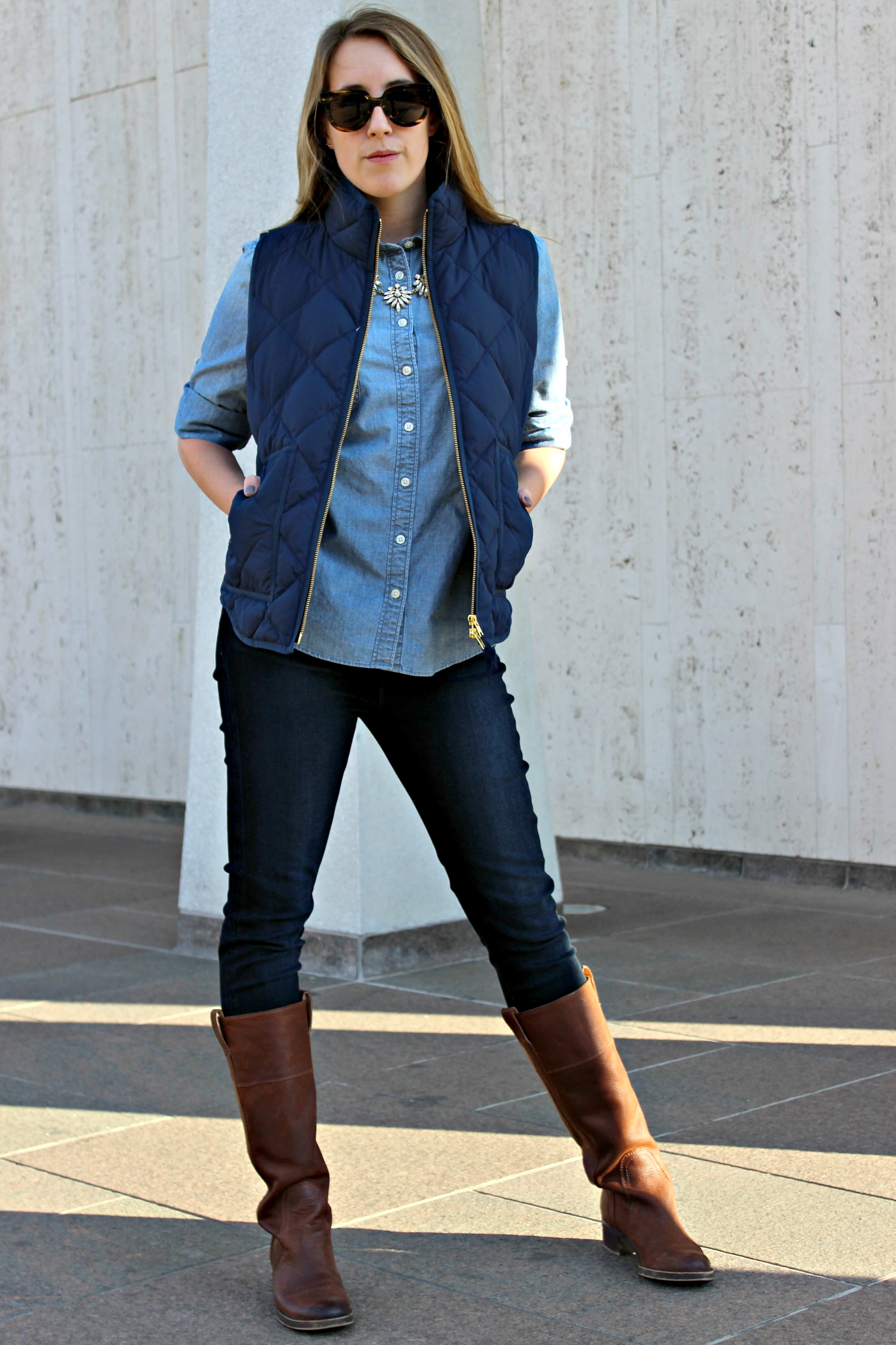 Wearing: blend in to blue chambray
