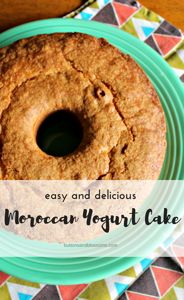 Easy and Delicious Moroccan Yogurt Cake // a super simple recipe for light and delicious pound cake made in the Moroccan way but substituting Greek yogurt!