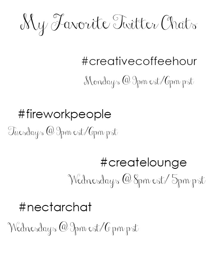 The Newbie's Ultimate Guide to Twitter Chats // these are my favorite twitter chats for bloggers and creatives!