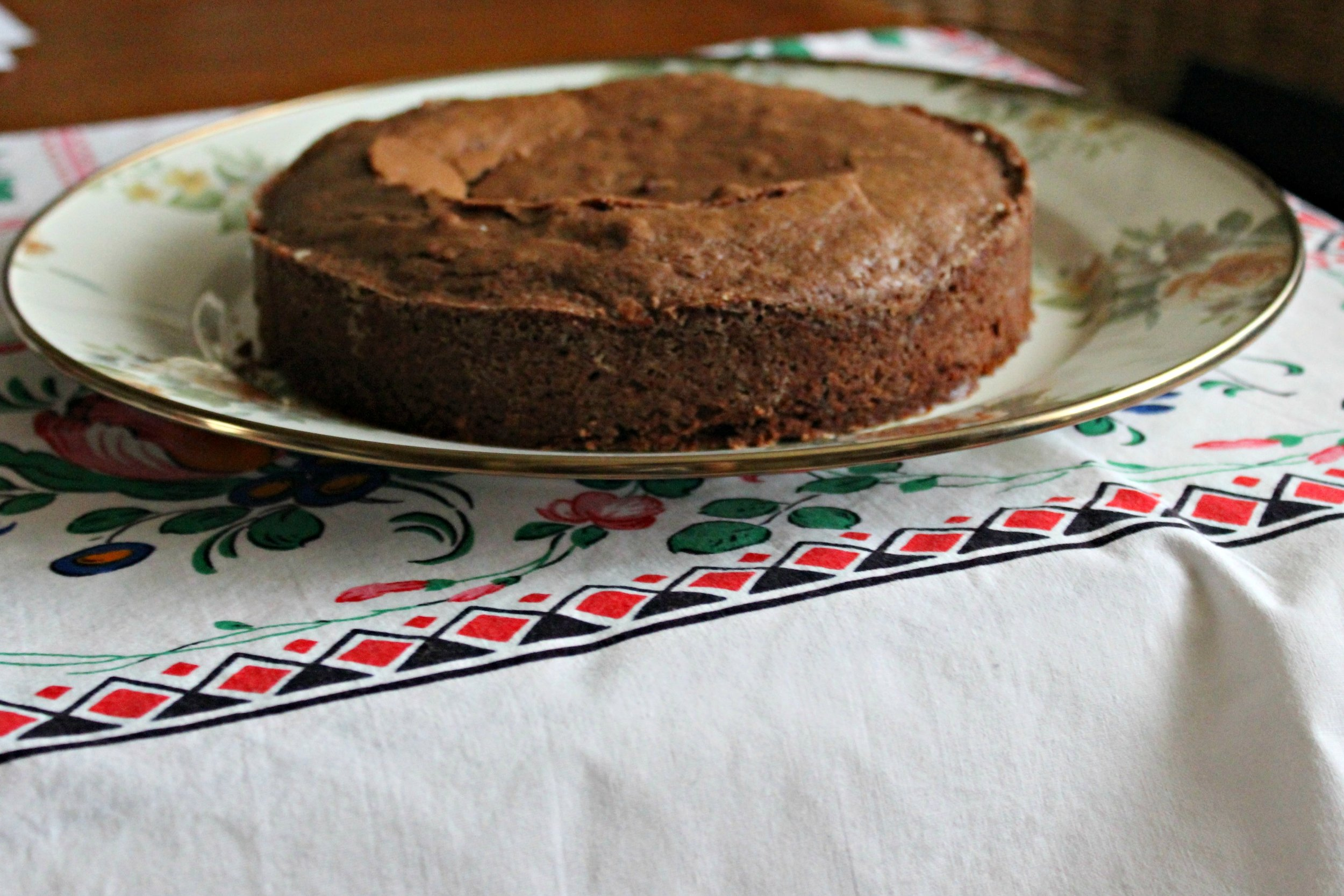 Kladdkaka, a traditional Swedish chocolate cake