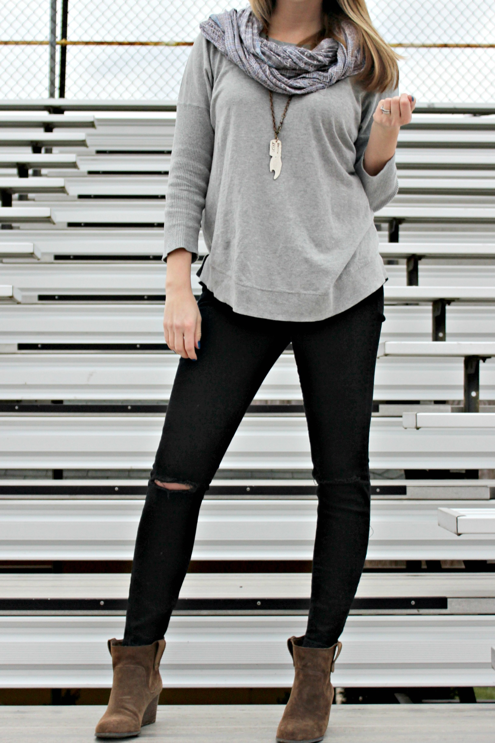 Wearing: Ripped and Cozy and Forever in Grey