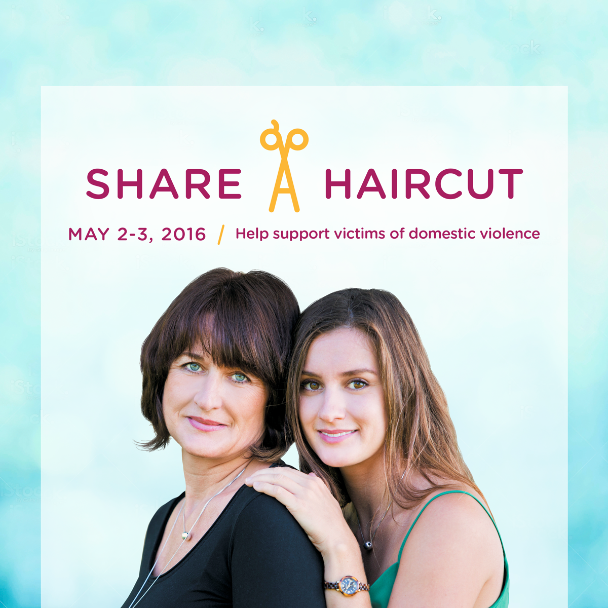 Share-A-Haircut with Hair Cuttery May 2-3, 2016! For every haircut, a haircut will be donated to someone in your community affected by domestic violence