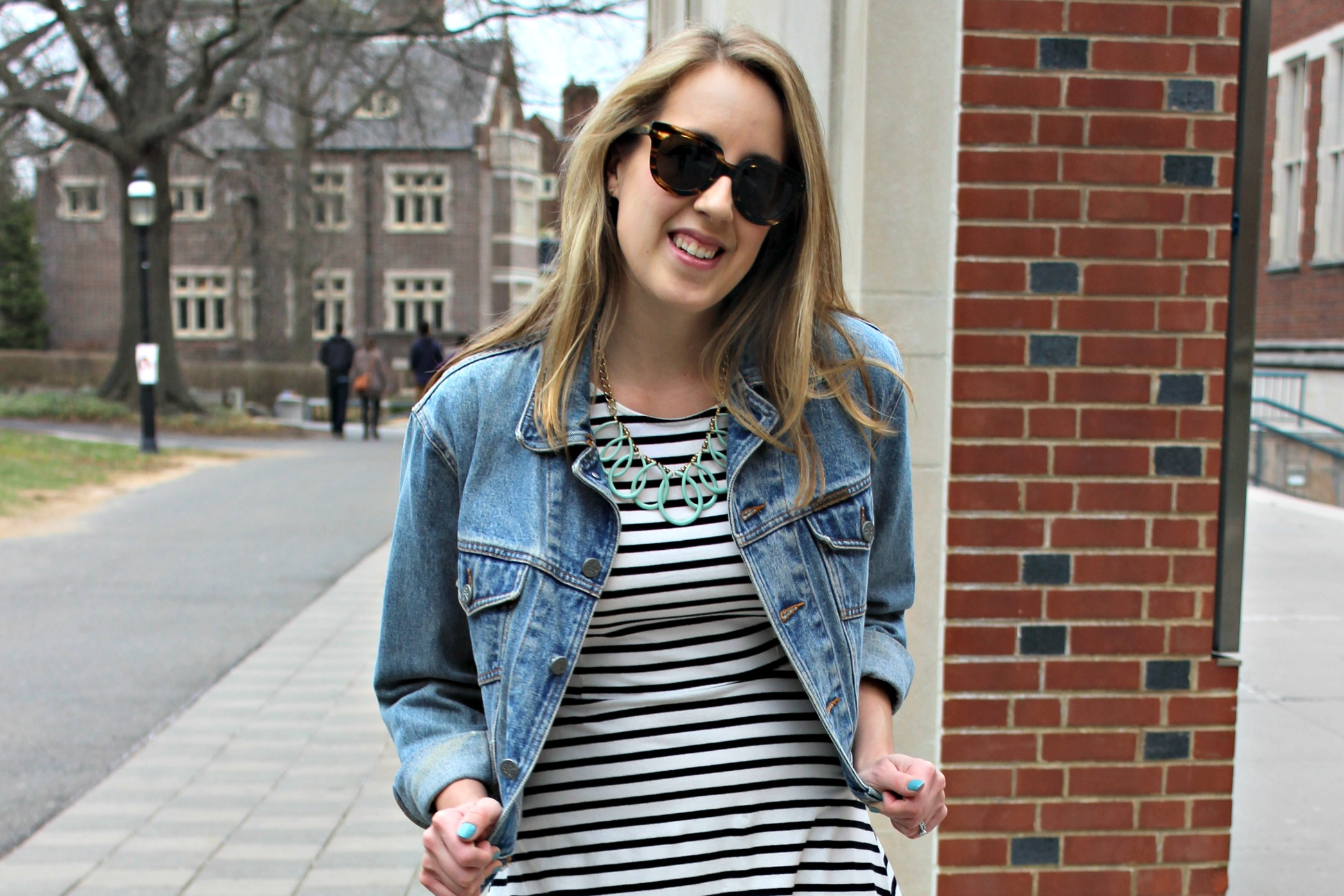 Wearing: Back to Basics in a Jean Jacket and a Dress