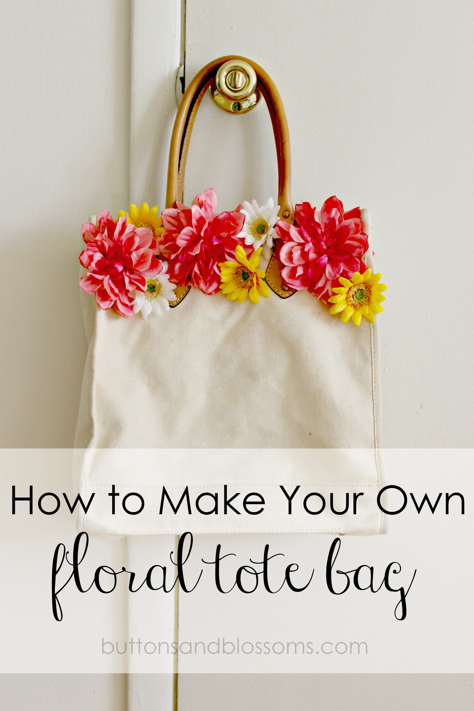 How to make your own floral tote bag