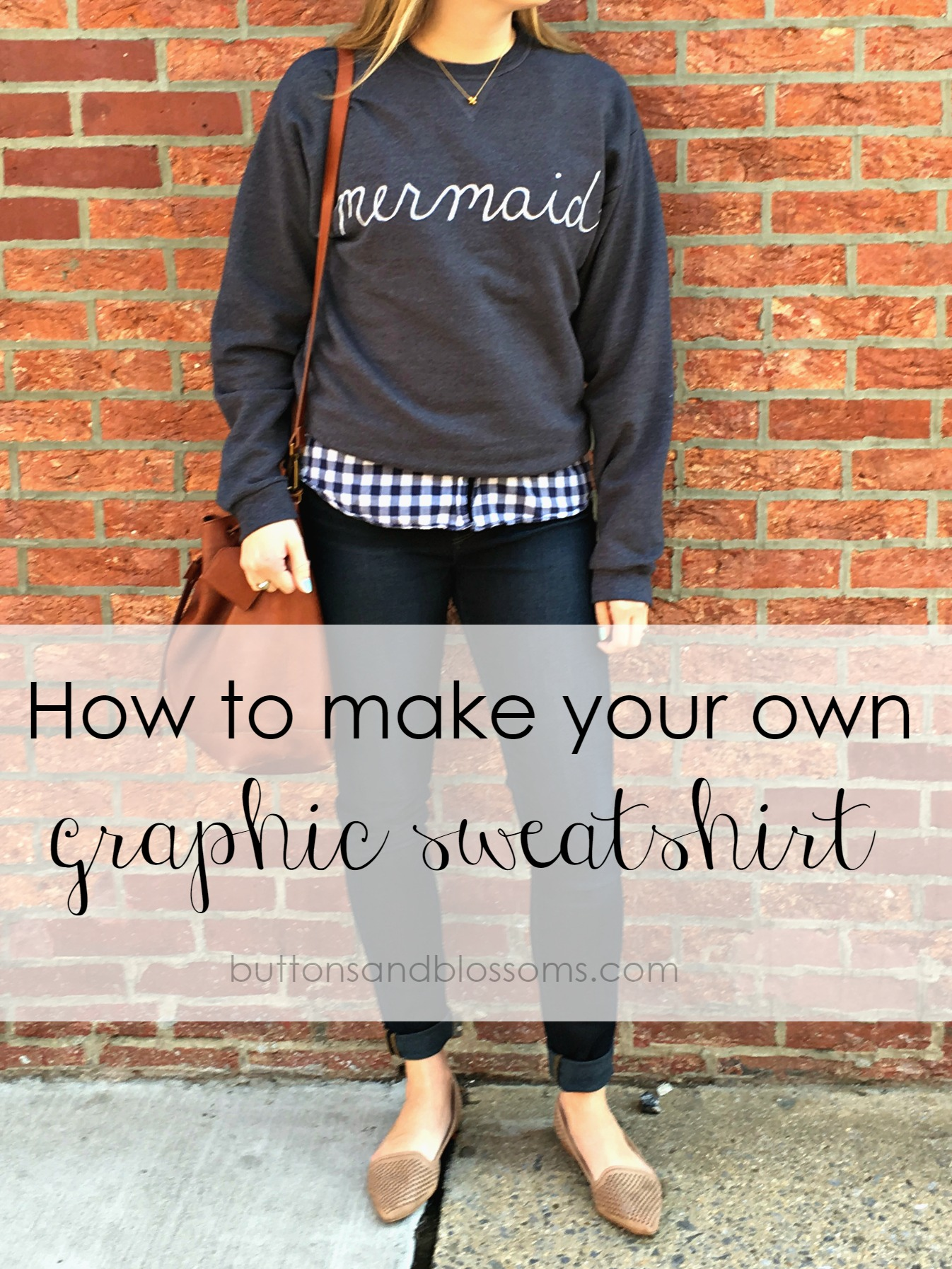 How To Make Your Own Graphic Sweatshirt // a diy fashion project from buttons & blossoms