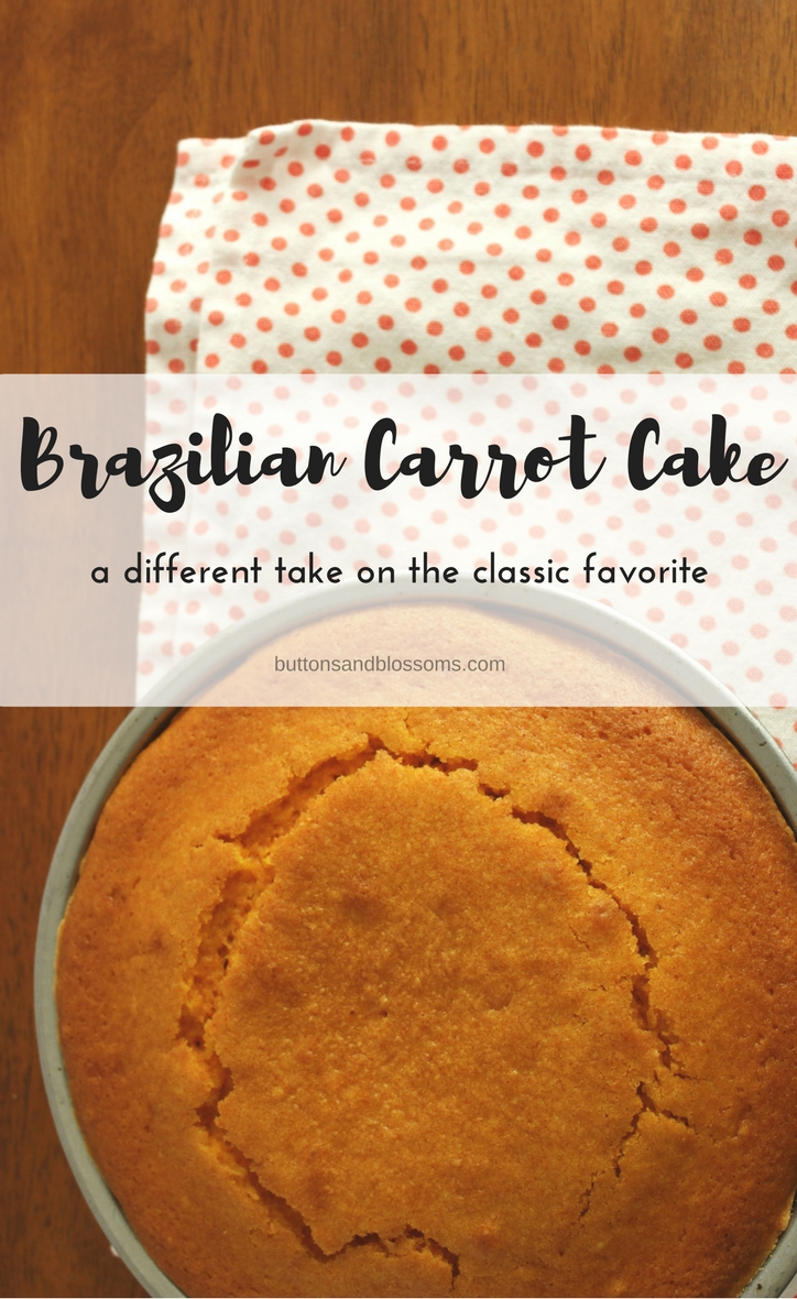 Around the World in 28 Cakes: Brazilian Carrot Cake // this is not like your old carrot cake recipe! This recipe brings out the vibrant, sweet taste of carrots in a decadent and moist cake.
