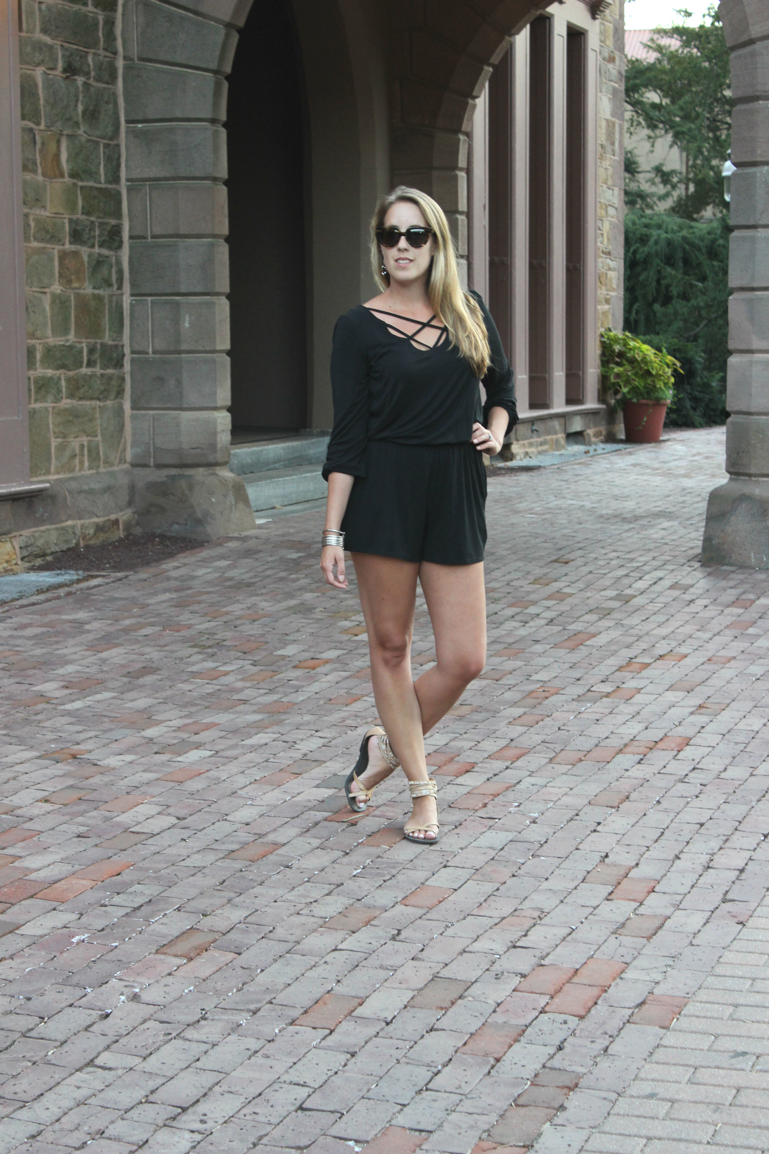 Wearing: Romper Around Town, Summer to Fall