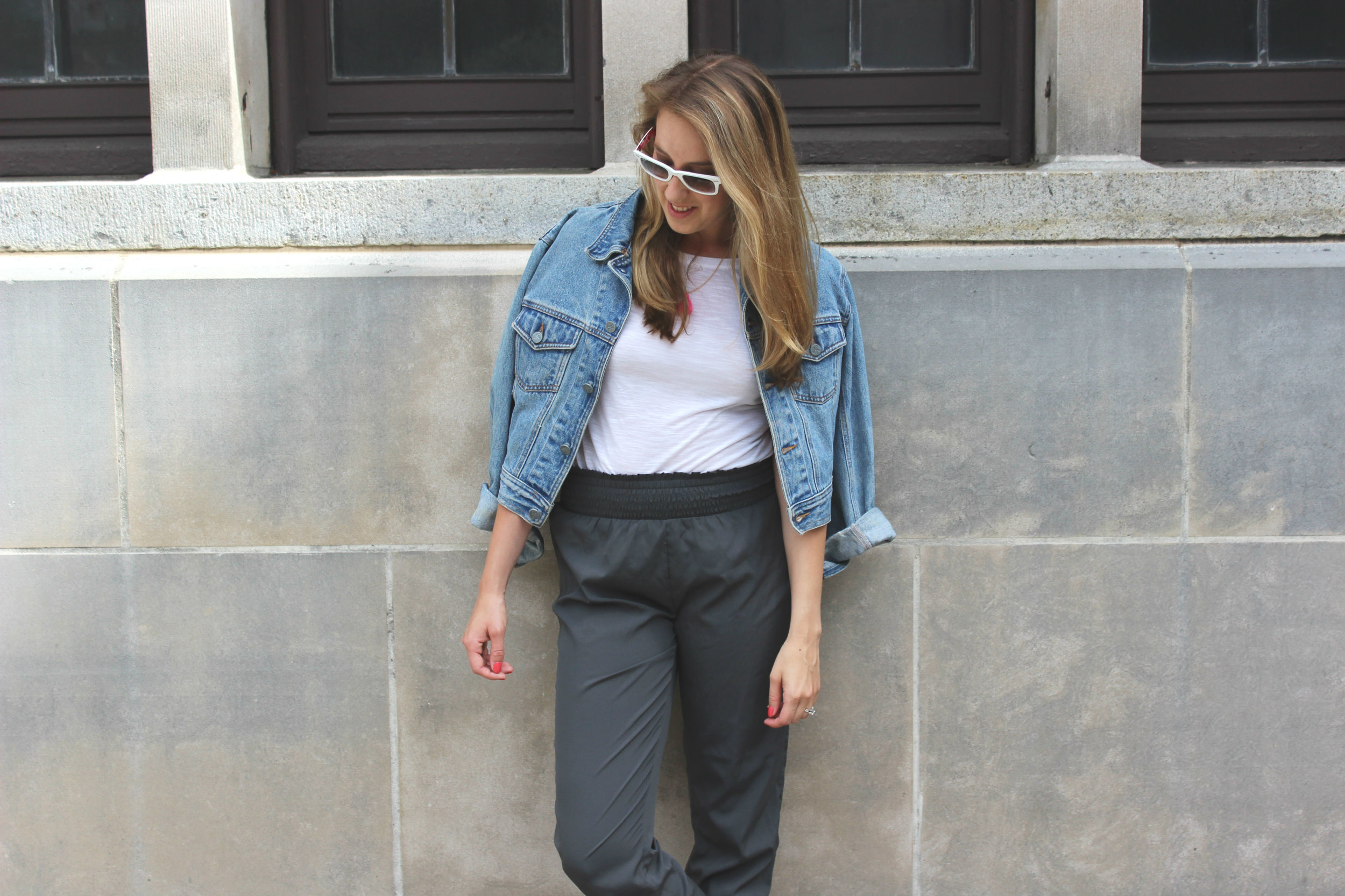 Wearing: Jogger Into Fall | the comfiest pant to wear as the weather cools down