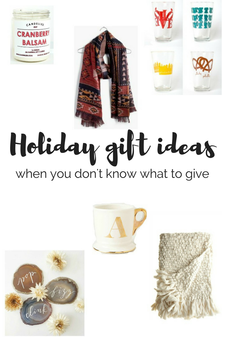 Holiday Gift Ideas When You Don't Know What to Give
