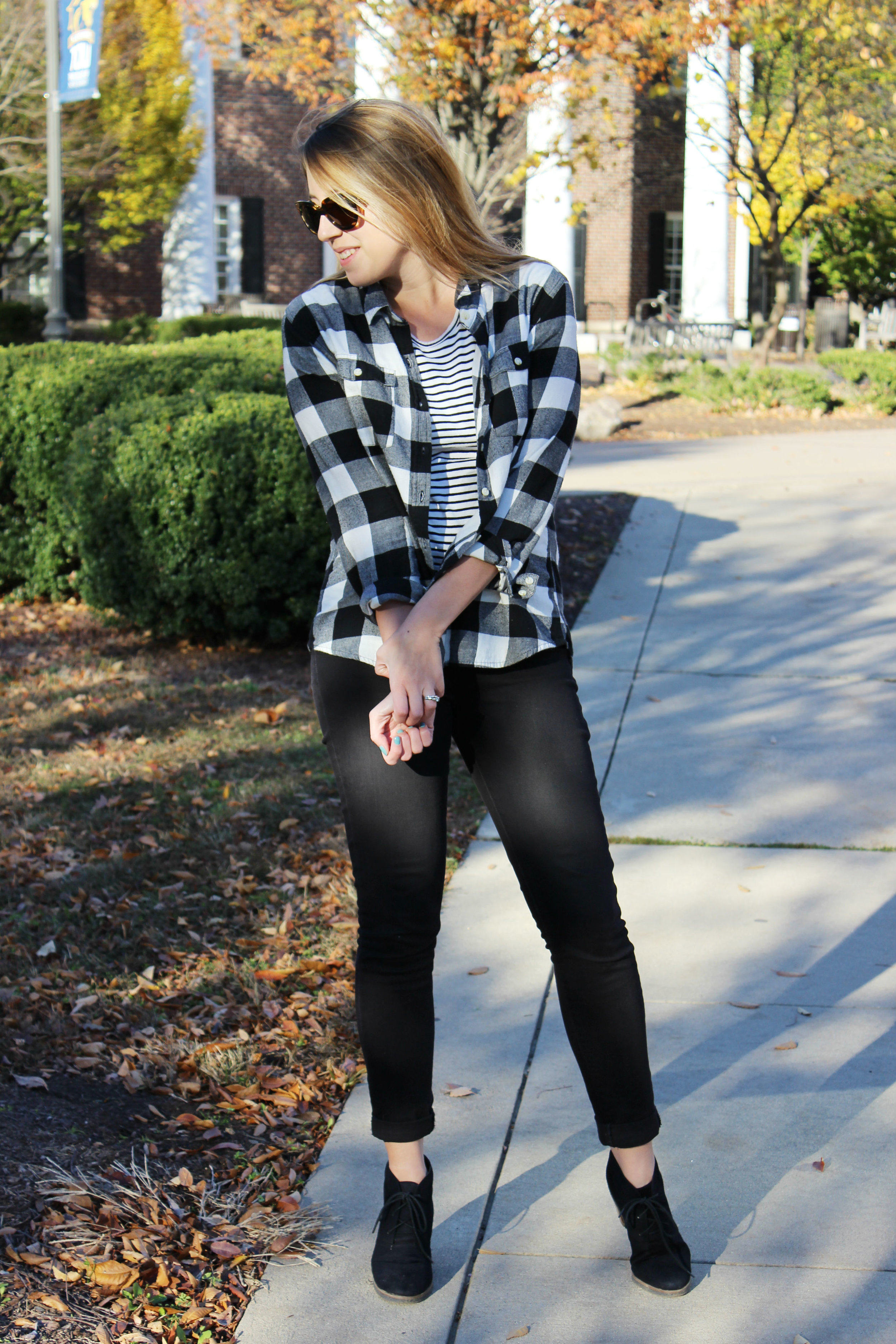 Wearing: Black, White, and Really Cozy