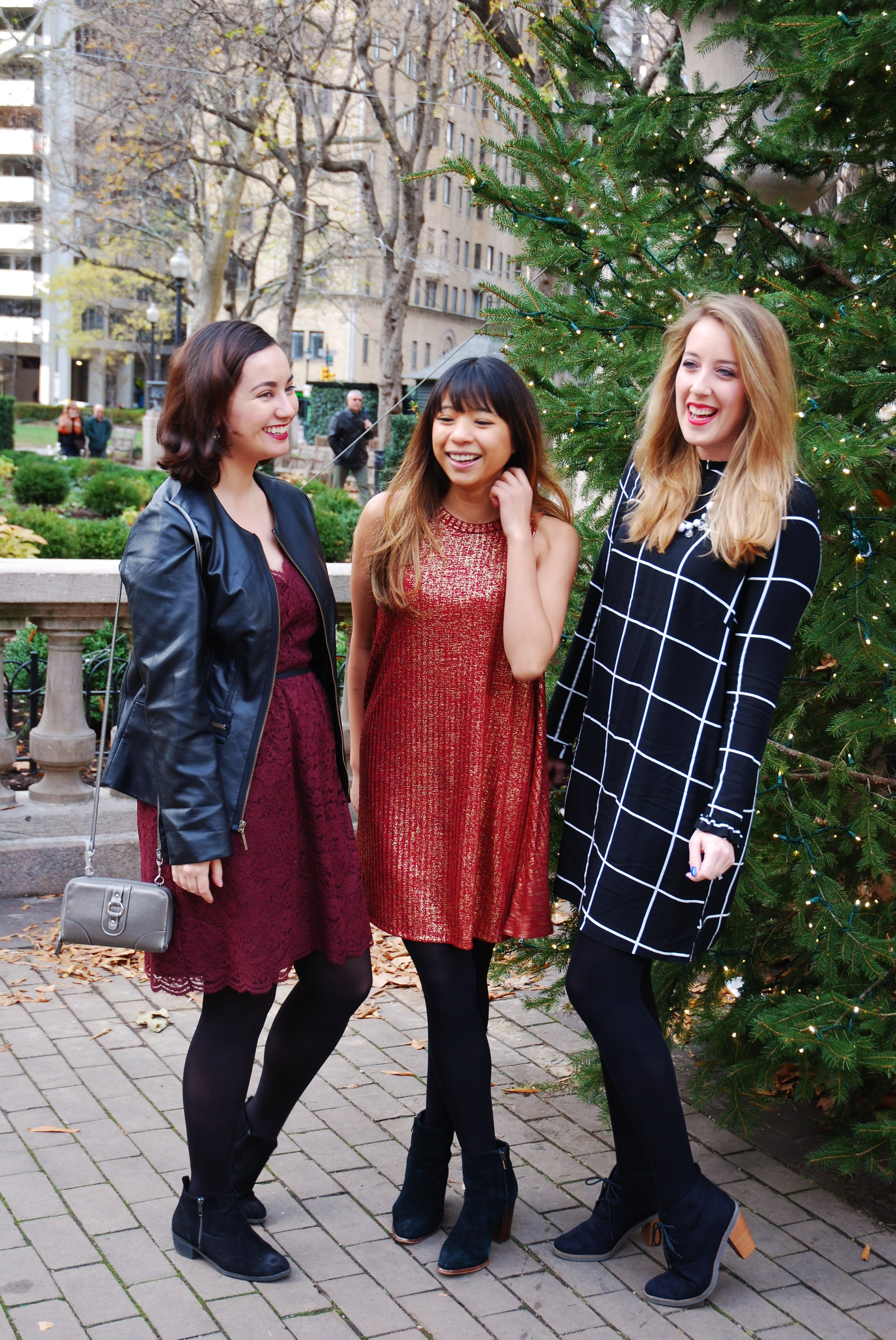 A Simple Holiday Dress for a Lady Brunch