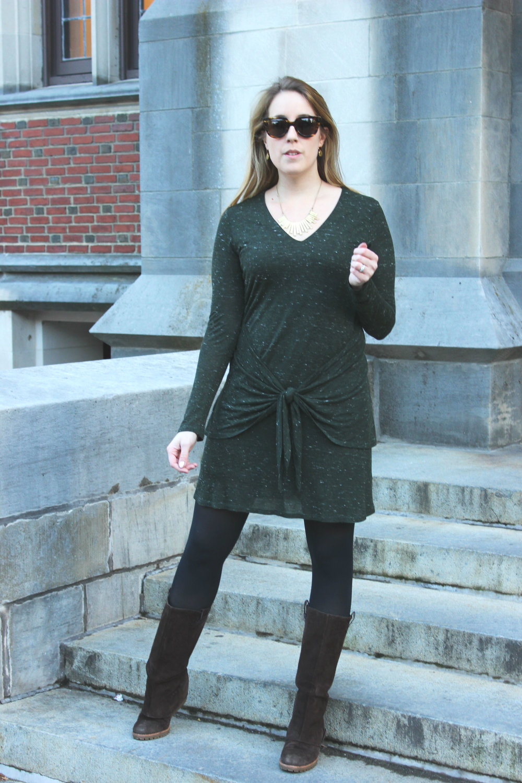 Wearing: Winter Work Dress in Green