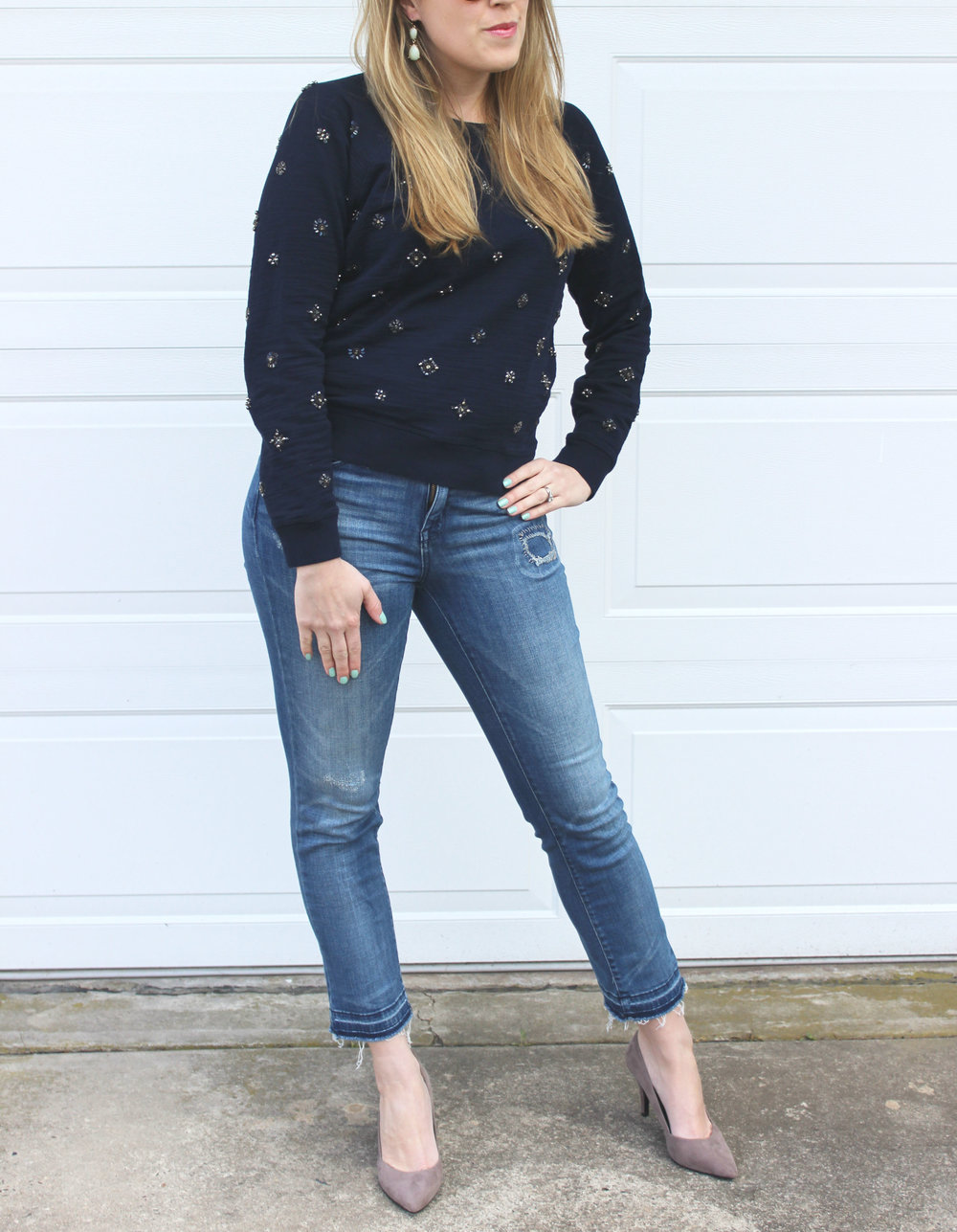 Wearing: The Jeweled Sweatshirt