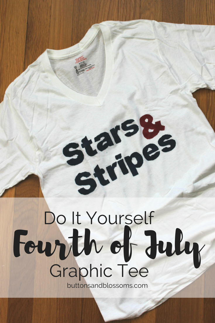 DIY Fourth of July Graphic Tee Tutorial - so easy and so cute!