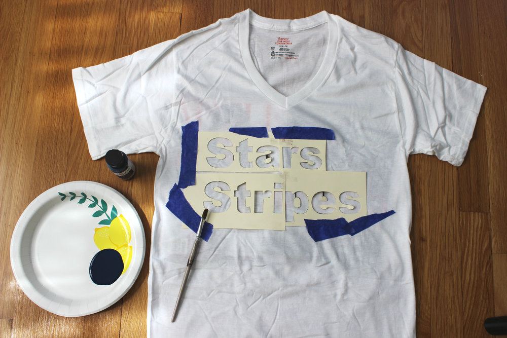 DIY Fourth of July Graphic Tee