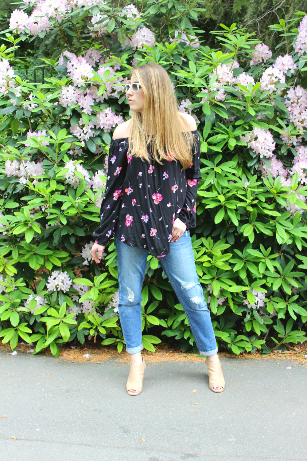 Off-the-Shoulder Floral Forever