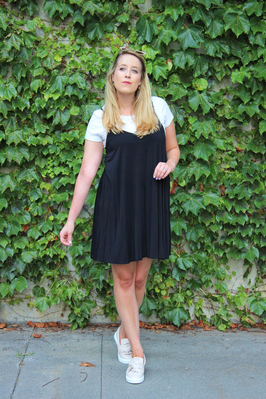 Nineties nostalgia in a simple slip dress