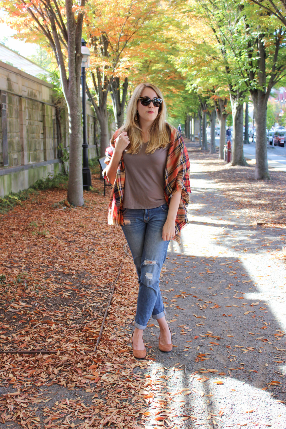 Styling a Wrap for Fall Weather